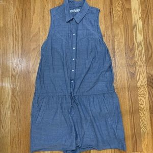 Abercrombie and Fitch sleeveless button up romper